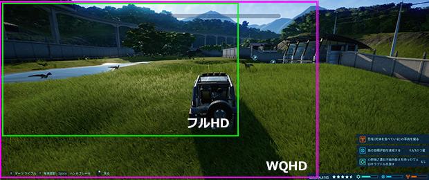 UWQHDの解像度比較