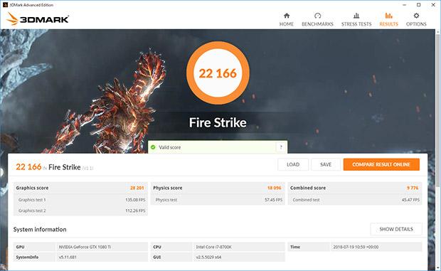3DMARK FireStrike結果