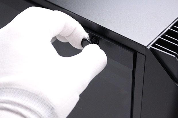 強化ガラスの開閉