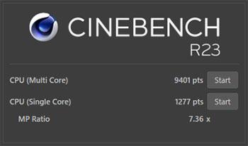 CINEBENCH R23ベンチマーク結果