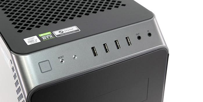 ガレリアXA7C-R38のコンソールパネル