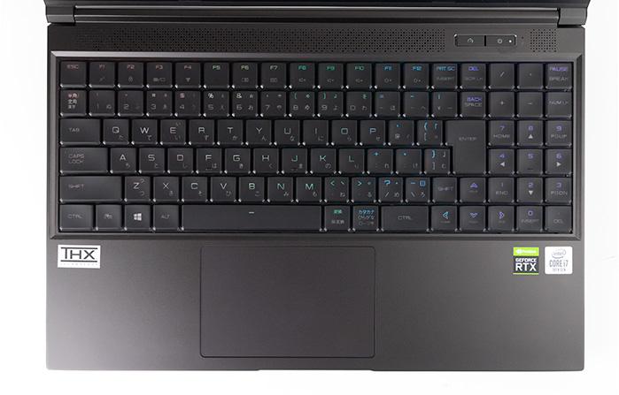 G-Tune H5のキーボード