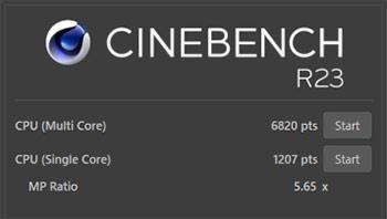 CINEBENCH R23ベンチマーク